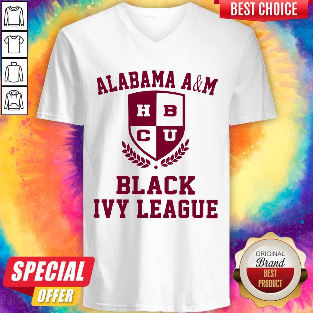 Alabama A And M HBCU Black Ivy League Halloween V-neck