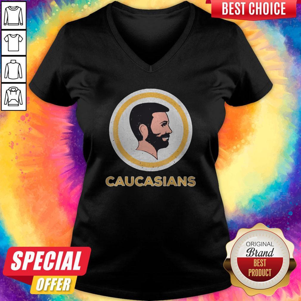 Awesome Caucasians Pride Vintage V-neck