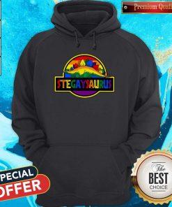 Nice LGBT Stegaysaurus Hoodie