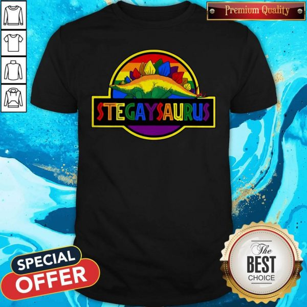 Nice LGBT Stegaysaurus Shirt