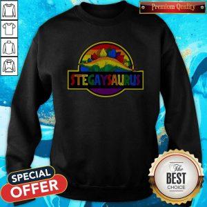 Nice LGBT Stegaysaurus Sweatshirt