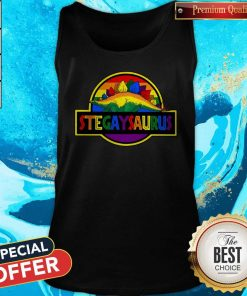 Nice LGBT Stegaysaurus Tank Top
