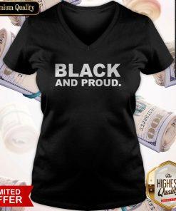 Premium Black And Proud V-neck