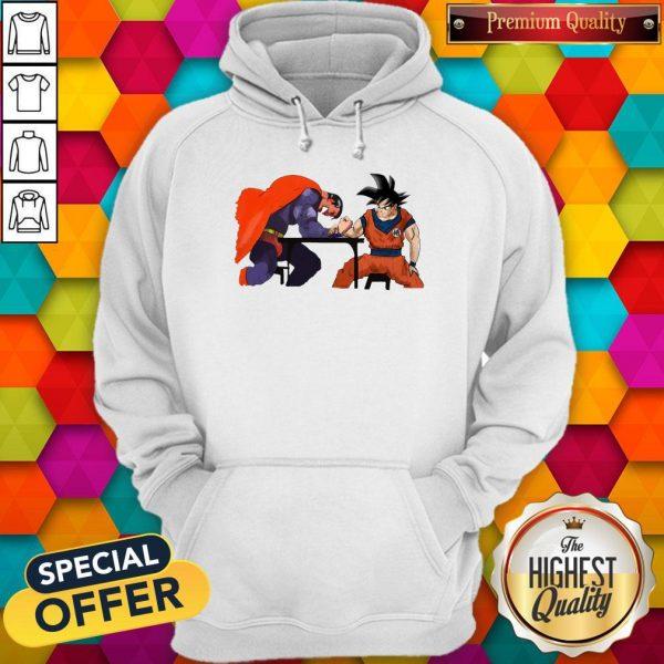 Top Superman Arm-wrestling Songoku Hoodie