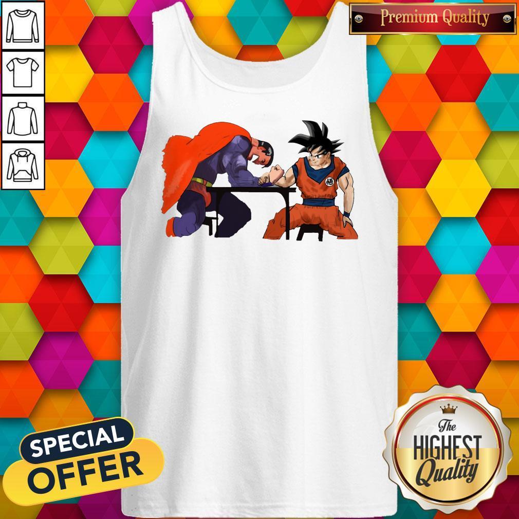 Top Superman Arm-wrestling Songoku Tank Top