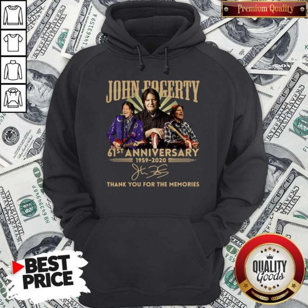 Anniversary 1959 2020 Thank You For The Memories Signature Hoodie