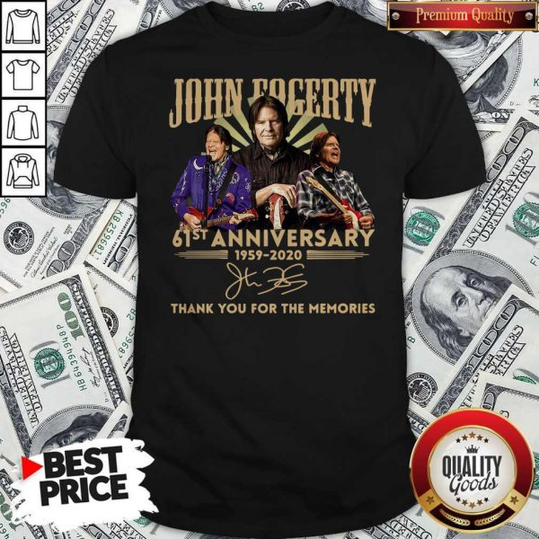 Anniversary 1959 2020 Thank You For The Memories Signature Shirt