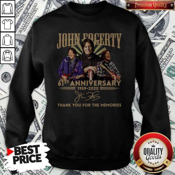 Anniversary 1959 2020 Thank You For The Memories Signature Sweatshirt