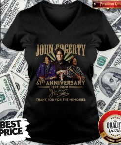 Anniversary 1959 2020 Thank You For The Memories Signature V-neckAnniversary 1959 2020 Thank You For The Memories Signature V-neck