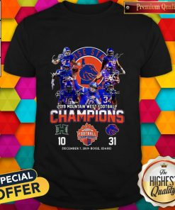 Boise State Broncos 2019 Mountain West Football CBoise State Broncos 2019 Mountain West Football Champions Shirthampions Shirt