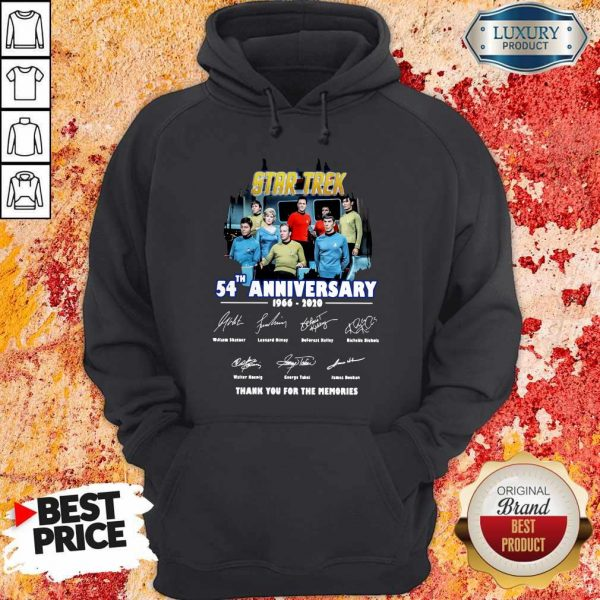 Star Trek 54th Anniversary 1966 2020 Thank You For The Memories Signatures Hoodie