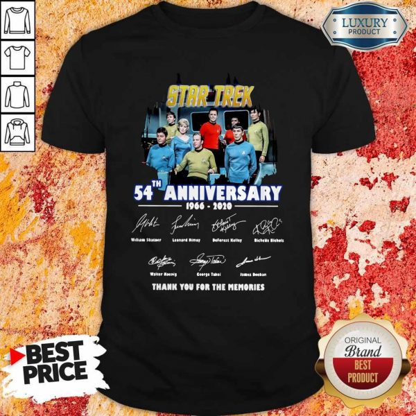 Star Trek 54th Anniversary 1966 2020 Thank You For The Memories Signatures Shirt
