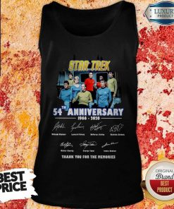 Star Trek 54th Anniversary 1966 2020 Thank You For The Memories Signatures Tank TopStar Trek 54th Anniversary 1966 2020 Thank You For The Memories Signatures Tank Top