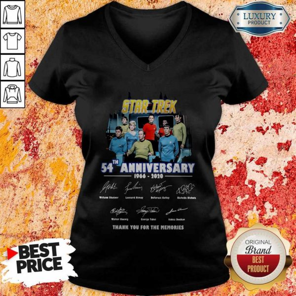 Star Trek 54th Anniversary 1966 2020 Thank You For The Memories Signatures V-neck