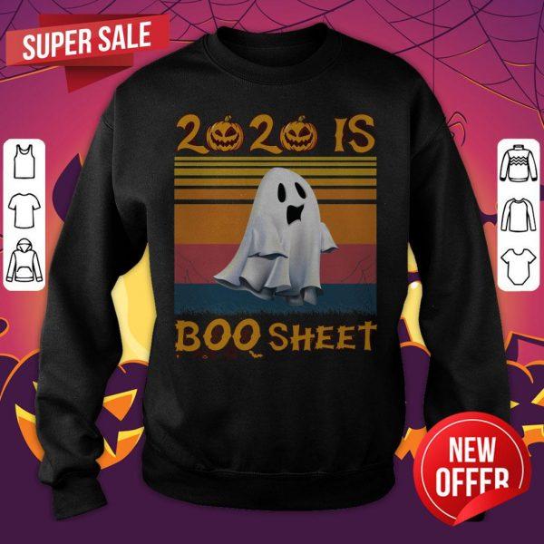 2020 Is Boo Sheet Halloween Vintage Sweatshirt