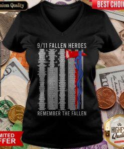 9 11 Fallen Heroes Remember The Fallen V-neck