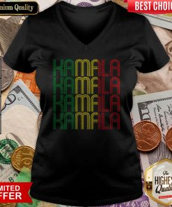 African American Black Lives Matter For Kamala Fun Gift V-neck