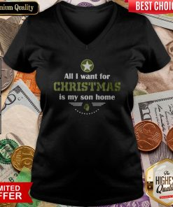 All I Want For Christmas Is My Son Home V-neck
