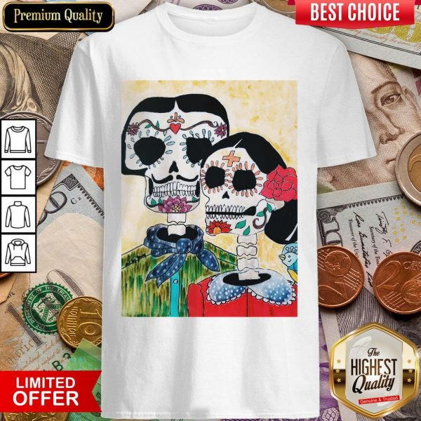 Amor Skeleton Couple Day Of The Dead Muertos Shirt