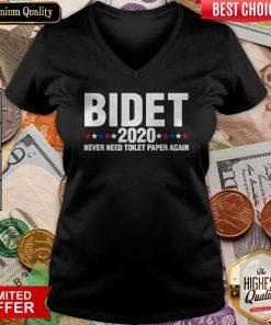 Bdiet 2020 Adult Joe Biden Toilet Paper Crises Humor Fun Gift V-neck