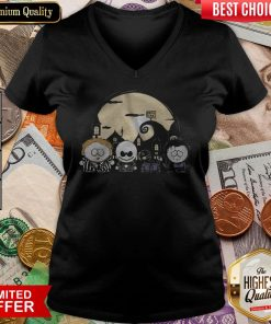Burton Park Tim Burton Movie Mashup Halloween V-neck