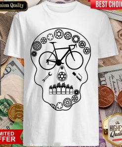 Cog Skull Bicycle Day Of Dead Shirt
