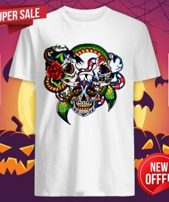 Cracked Candy Skulls Day Of The Dead Muertos Shirt