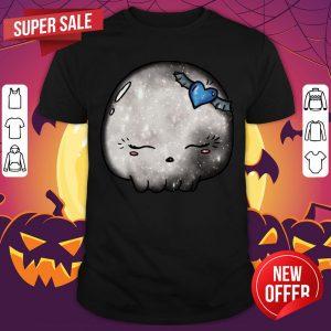 Halloween Silver Moon Skull Kawaii Cute Sugar Skull Shirt
