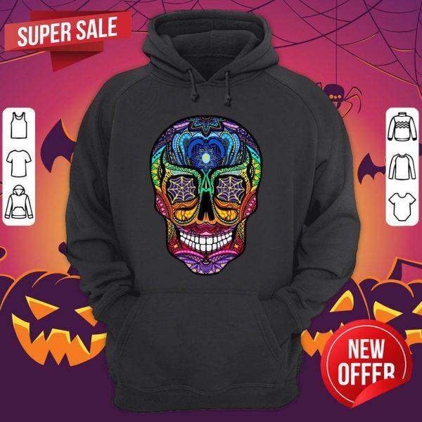 Sugar Skull Colorful Dia De Muertos Day Of The Dead Hoodie