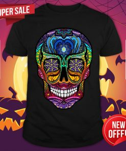 Sugar Skull Colorful Dia De Muertos Day Of The Dead Shirt