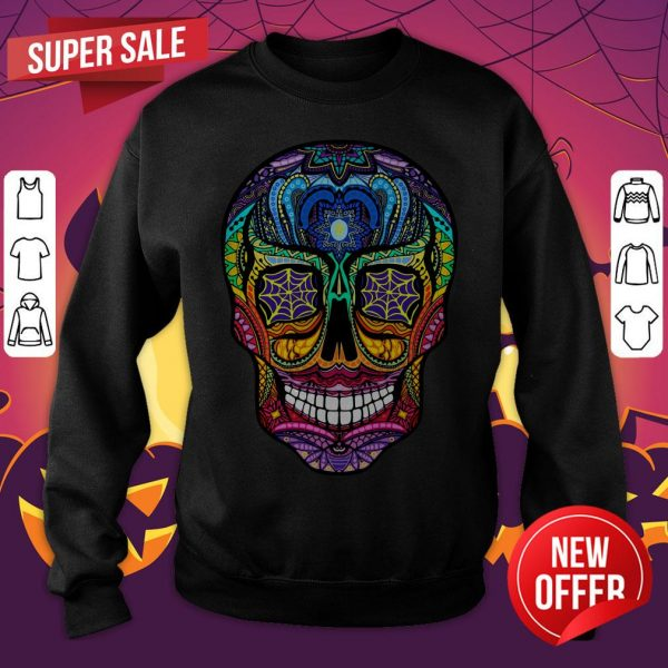 Sugar Skull Colorful Dia De Muertos Day Of The Dead Sweatshirt