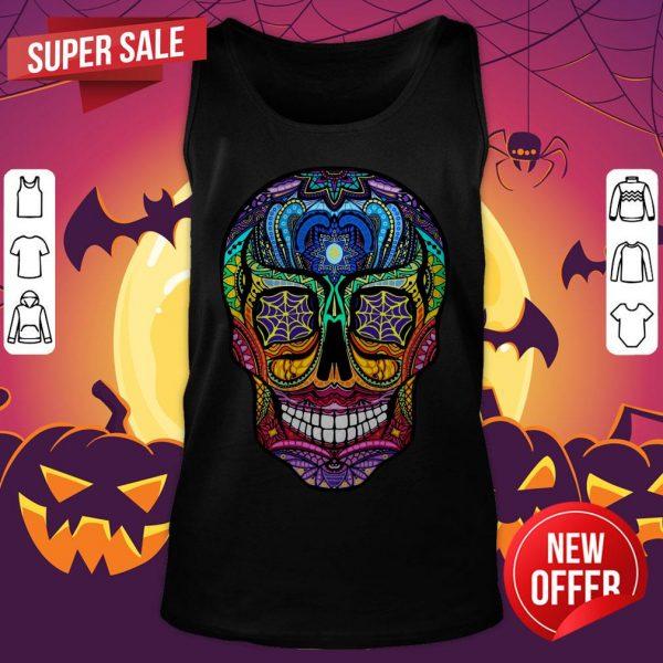 Sugar Skull Colorful Dia De Muertos Day Of The Dead Tank Top