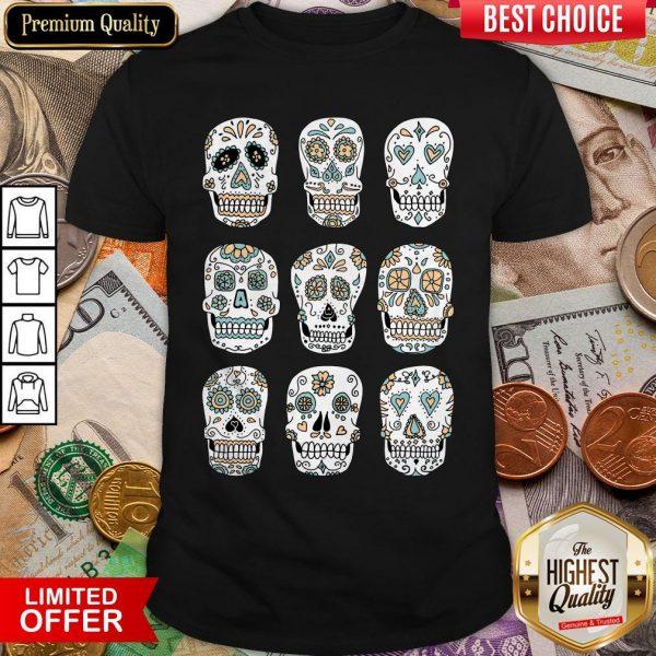 Sugar Skulls Dia De Muertos Day Of The Dead Shirt