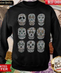 Sugar Skulls Dia De Muertos Day Of The Dead Sweatshirt