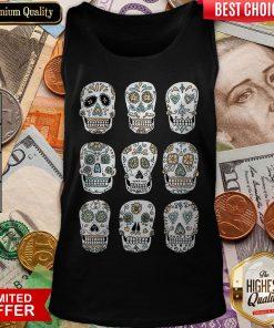 Sugar Skulls Dia De Muertos Day Of The Dead Tank Top