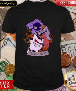 Trick Or Treat Gastly Haunter Gengar Pokemon Halloween Shirt