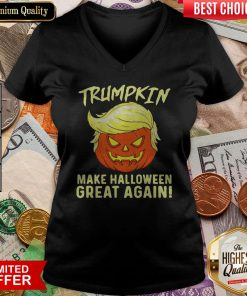 Trumpkin Make Halloween Great Again V-neck