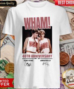 Wham 40th Anniversary 1981 2021 Signatures Shirt