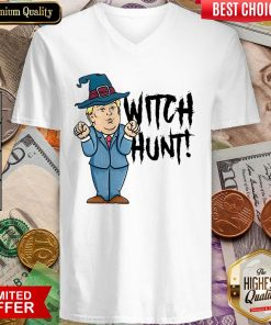 Witch Hunt Trump Witch Halloween V-neck