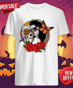 Woman Day Of The Dead Sugar Skull Makeup Shirt