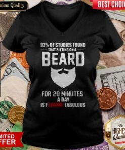 92% Of Studies Found That Sitting On A Beard V-neck