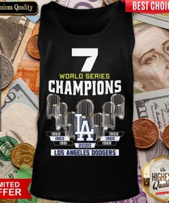 Top 7 World Series Champions 1955 1959 1965 1963 1981 1988 2020 Los Angeles Dodgers Tank Top - Design By Viewtees.com