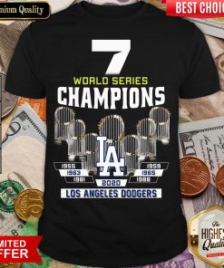Top 7 World Series Champions 1955 1959 1965 1963 1981 1988 2020 Los Angeles Dodgers Shirt - Design By Viewtees.com