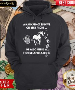 A Man Cannot Survive On Beer Alone Hoodie