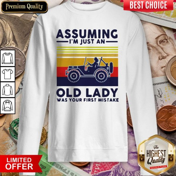 Assuming I'M Just An Old Lady Was Your First Mistake Sweatshirt