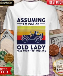 Assuming I'M Just An Old Lady Was Your First Mistake V-neck