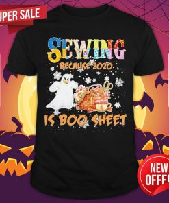 Autism Sewing Because 2020 Is Boo Sheet Merry Christmas Shirt