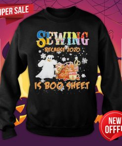 Autism Sewing Because 2020 Is Boo Sheet Merry Christmas Sweatshirt