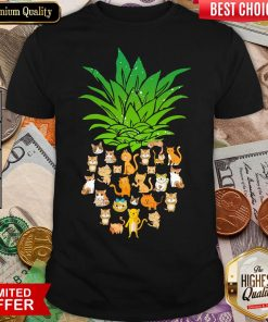 Awesome Pineapple Cats Shirt- Design By Viewtees.com