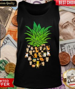 Awesome Pineapple Cats Tank Top - Design By Viewtees.com
